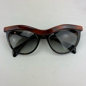 Prada Brown Black Cat Eye Sunglasses